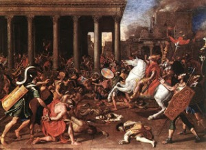 """The Destruction of the Temple at Jerusalem"" by Micolas Poussin, 1637"