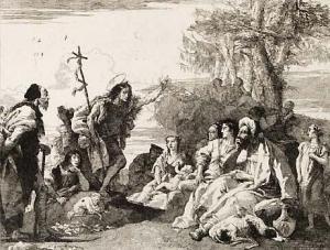 Giovanni Battista Tiepolo, Giovanni D Tiepolo Saint John the Baptist Preaching,